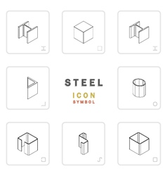 section steel icon symbol isometric vector image