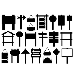 Set of different directional signs vector