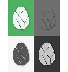 Shattered Easter egg set vector