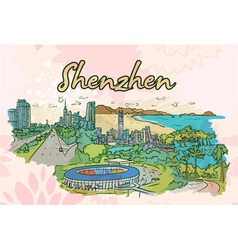 Shenzhen doodles vector