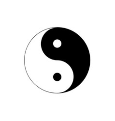 silhouette of yin and yang symbol of harmony and vector image