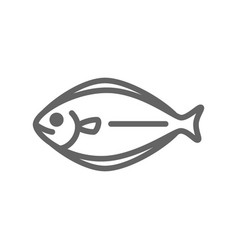 simple fish line icon symbol and sign vector image