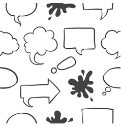 text balloon pattern style collection vector image