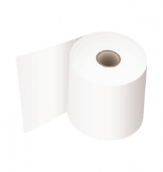 Toilet roll white vector