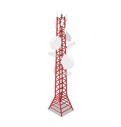Tv tower isometric 3d icon vector