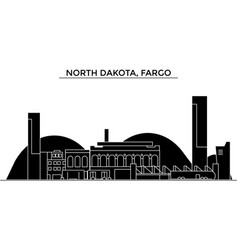 usa north dakota fargo architecture city vector image