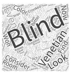 Venetian blinds word cloud concept vector