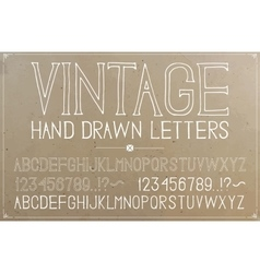 Vintage hand drawn alphabet vector image
