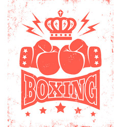 Vintage logo for boxing vector
