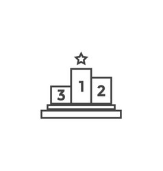 winner podium graphic design template vector image
