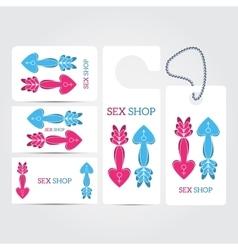 XXX sex shop salon white Corporate identity vector image