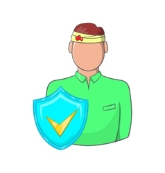 Accident insurance icon cartoon style vector image