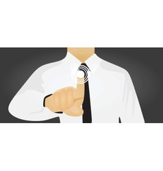 businessman touch digital screen vector image