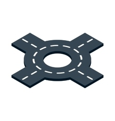 Circular interchange icon isometric 3d style vector image vector image