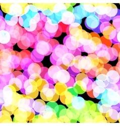 Disco bokeh vector image vector image