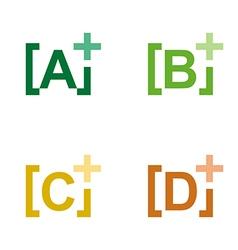 lettering plus alphabet colorful design icon vector image vector image