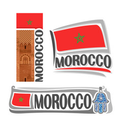 logo for morocco vector image