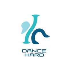 Modern dance school logo template vector image vector image