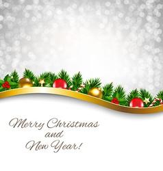 Silver Xmas Holiday Poster vector image vector image