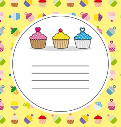 card cupcakes vector image vector image