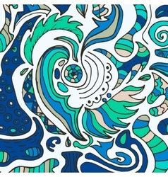 doodle colored gentle background vector image
