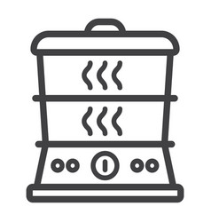 food steamer line icon kitchen and appliance vector image