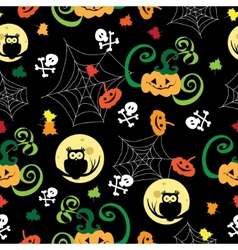Halloween background Template for design vector image