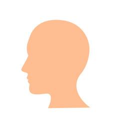 head icon flat design best icon vector image vector image
