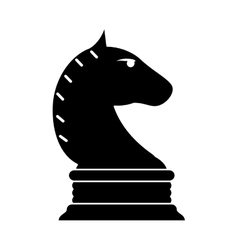 Isolated chess horse design vector image