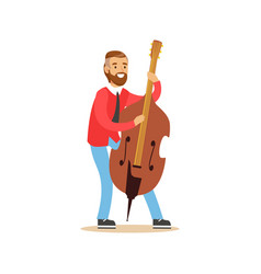 male cellist playing cello vector image