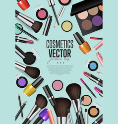 professional fashion makeup realism banner vector image vector image