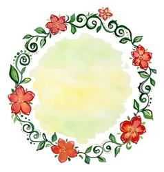 Wreath of flowers vector image