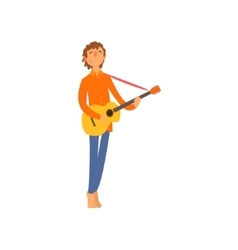 Acoustic Guitar Player vector image