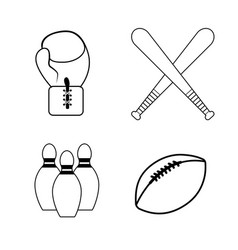 figure sport game background icon vector image