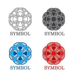geometric symbol or ornament for decoration vector image