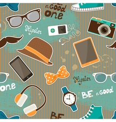 Hipster seamless elements vector image vector image