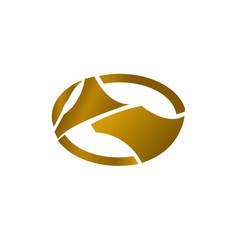 luxury logo gold concept vector image