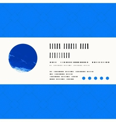 Card with watercolour circle in blue vector