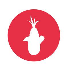 corn round icon vector image
