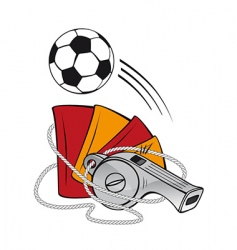 football and whistle vector image vector image