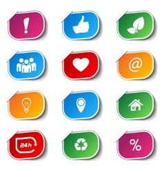 internet icons - labels vector image vector image