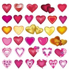Set of heart for Valentine wedding birthday vector image vector image