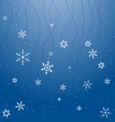 snowflake scene vector image vector image