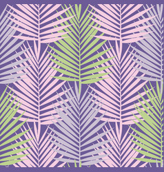 ultra violet tropical palm leaves seamless vector image vector image