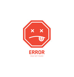 404 label error page not found design template for vector