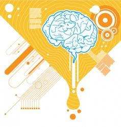Abstract brain illustration vector