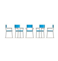 An chair in different perspectives vector