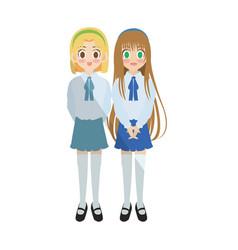 anime girl design vector image