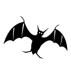 Bat icon simple style vector