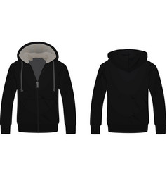 Black hooded sweater vector